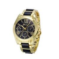 Fankris 2016 Top Brand Luxury Women Watches Geneva Roman Numeral Clock Hour Gold Plated Metal Nylon