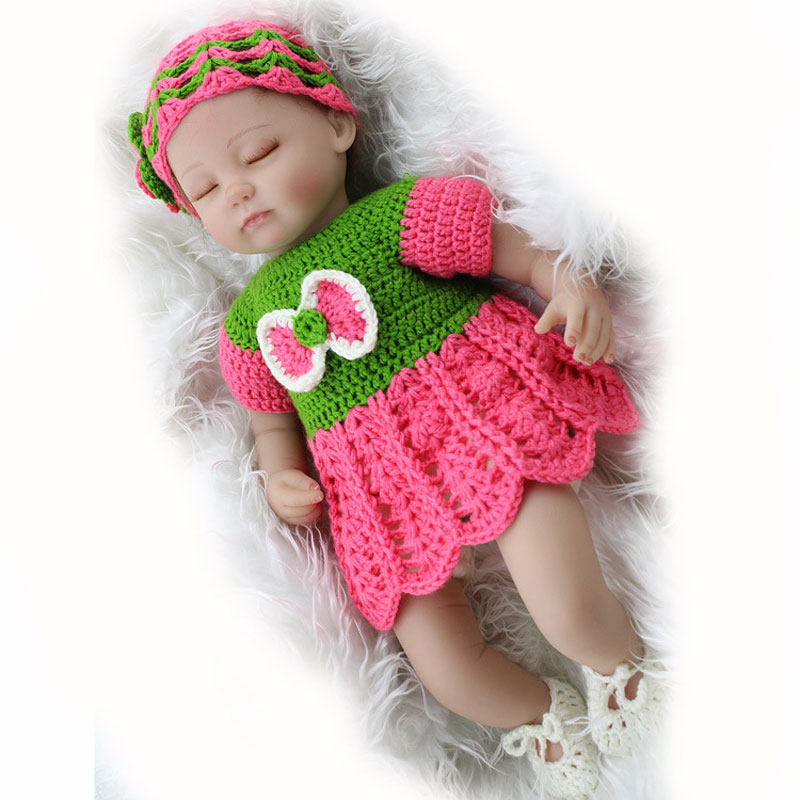 16inch Silicone Reborn Dolls Simulation Slepping Baby Gift Toys Lifelike Newborn Mohair Girl 45cm BeBe Reborn Dolls Brinquedos hot sale toys 45cm pelucia hello kitty dolls toys for children girl gift baby toys plush classic toys brinquedos valentine gifts