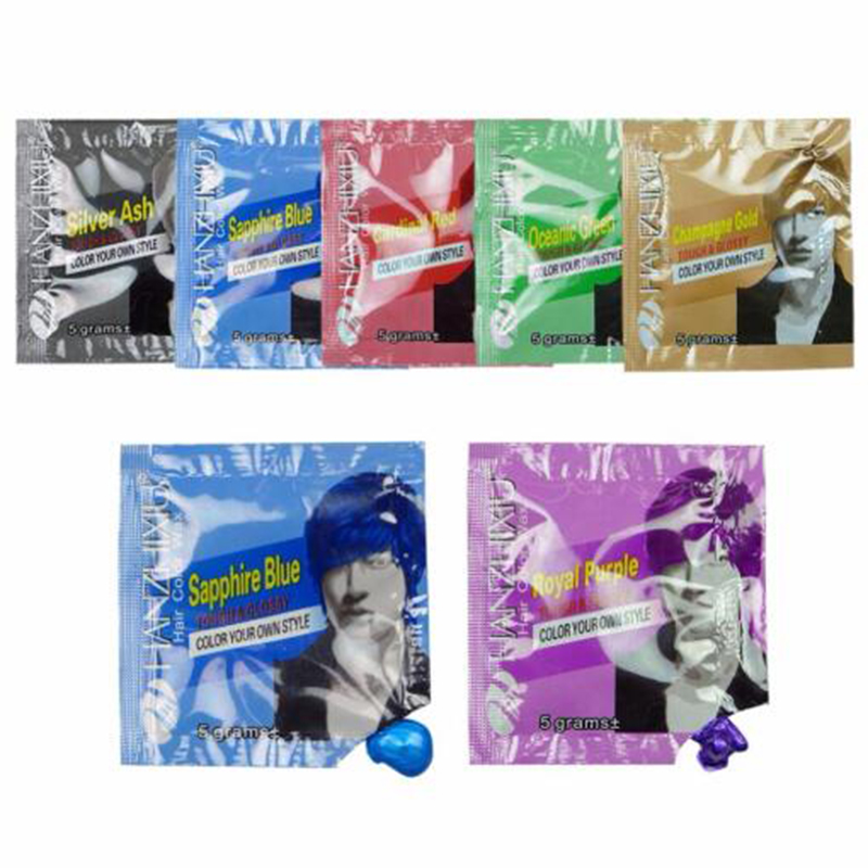 Vikada Grandma Gray Hair Wax Purple Blue Color Hair Mud Disposable Hair Dye Silver White Hair Style