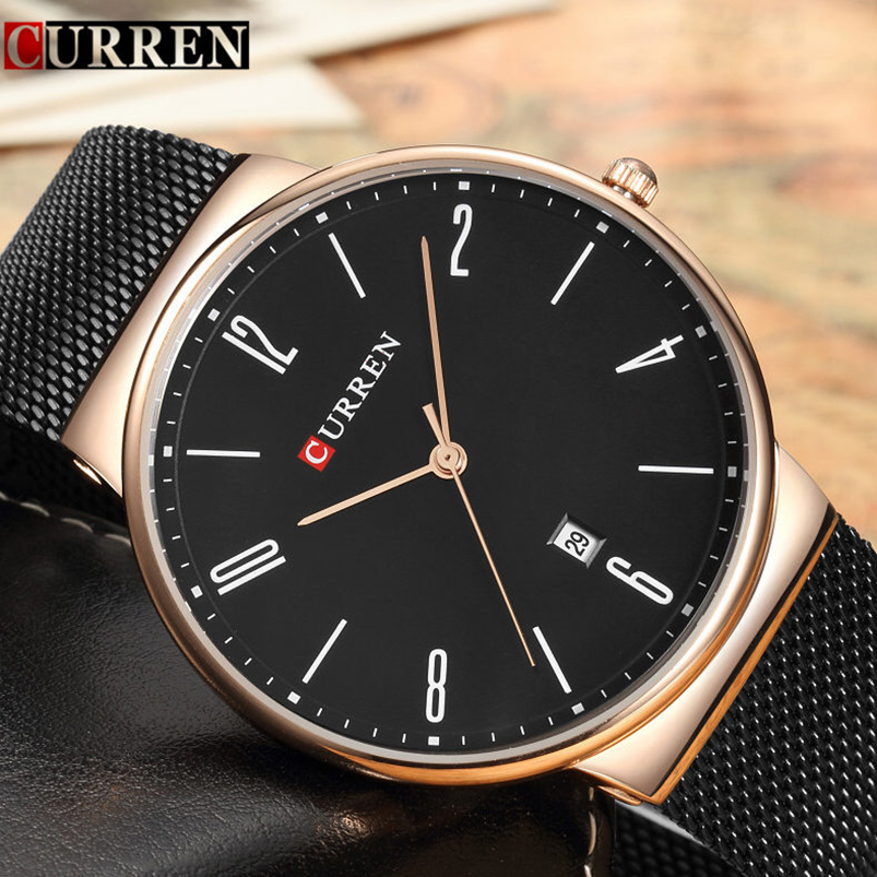 Mens Watches Top Brand Luxury Stainless Steel Quartz Men Watch Fashion Casual Business Male Clock Wristwatch Relogio Masculino naviforce fashion casual mens watches top brand luxury leather business quartz watch men wristwatch male clock relogio masculino