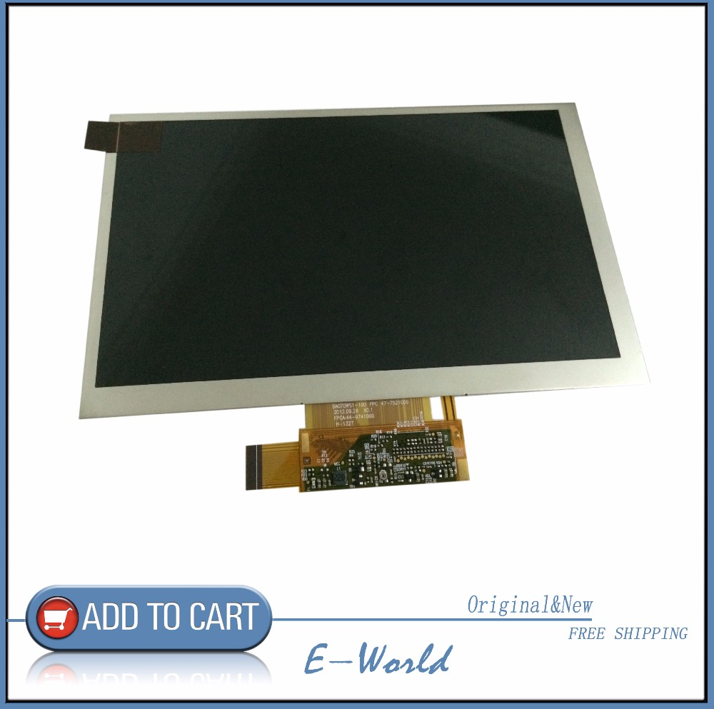 Original LCD screen BA070WS1-100 for tablet pc free shipping