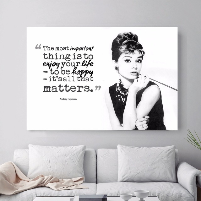 Audrey Hepburn Quote Abstract Canvas Art Print Painting Poster Wall ...