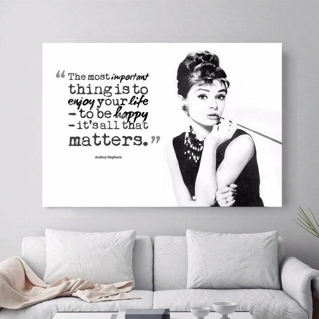 Audrey Hepburn Zitieren Abstrakte Leinwand Kunstdruck Malerei Poster