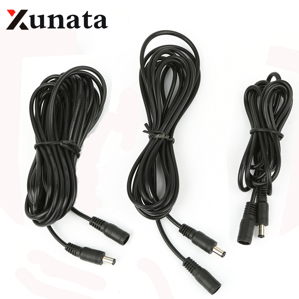 1m 2m 3m 5M 10M Connector Power Plug With Extension Wire 5.5 X 2.1 Mm DC Female Male