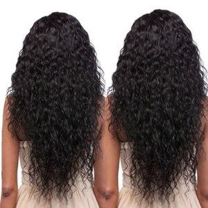 البرازيلي الشعر موجة المياه حزم مع الدانتيل إغلاق مع شعر الطفل 3 قطع tissage cheveux الحمين غير ريمي الإنسان الشعر حزم