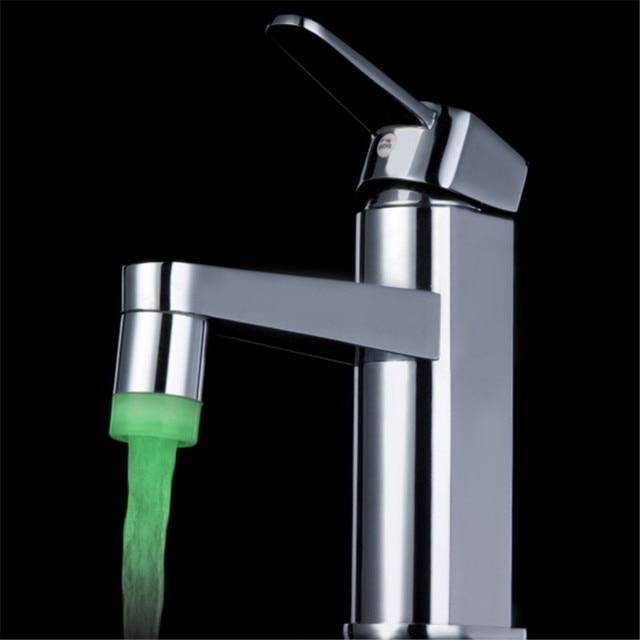 Exceptional Color Change LED Water Tap Faucet Aerator Multiple Color LED Jump Change  Color Lights Bathroom Kitchen