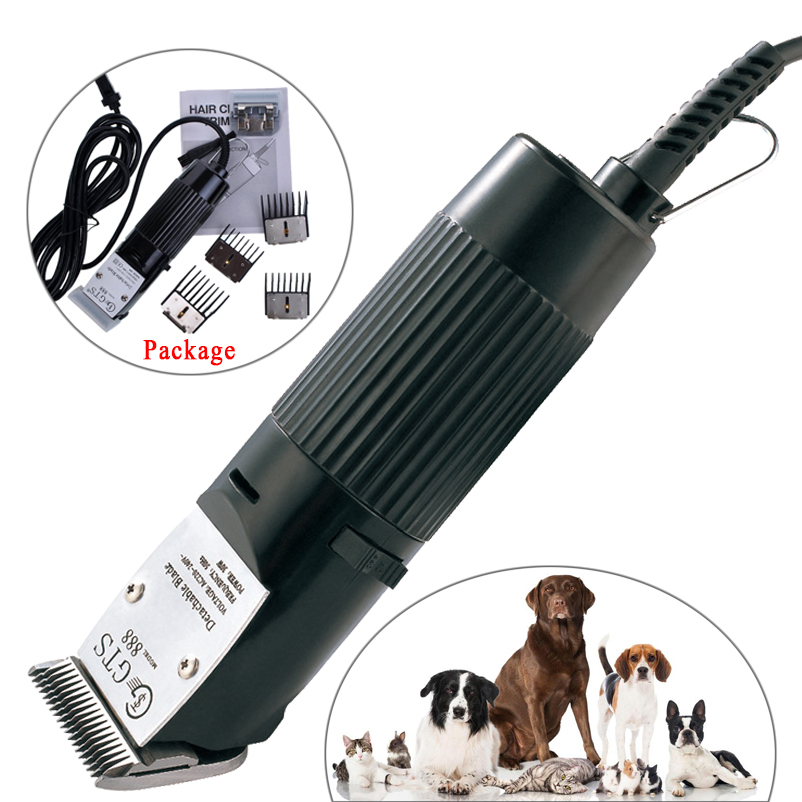 ФОТО Professional 30W Animal Shavers Electric Hair Trimmer Hair Clipper Powerful Cutting Machine For Pet Cat Dog Hair Set