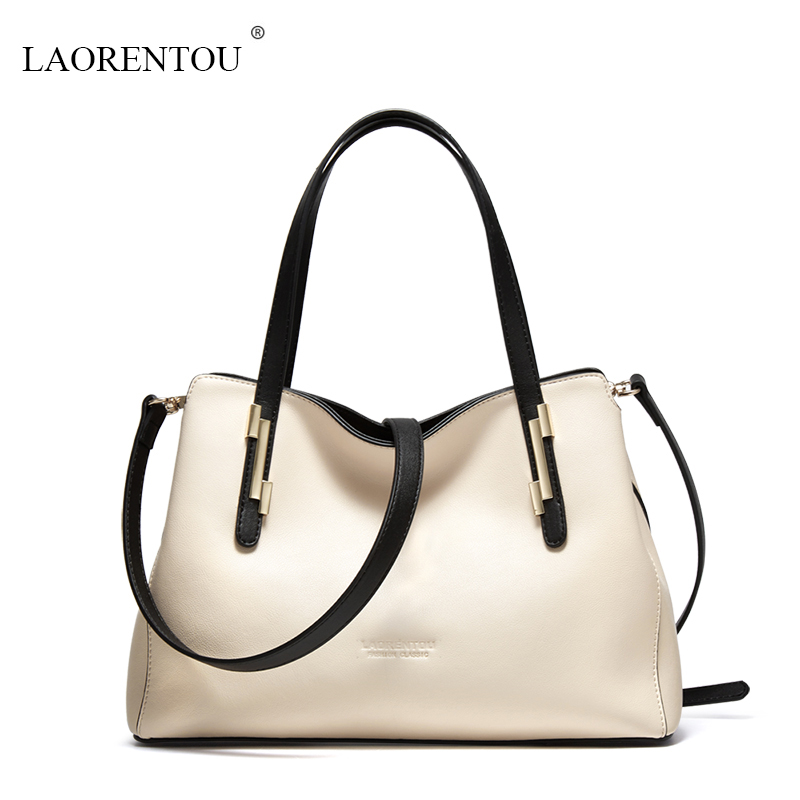 LAORENTOU High capacity women handbags 2017 new brand Top Quality leather women Messenger bags fashion ladies shoulder bag tote