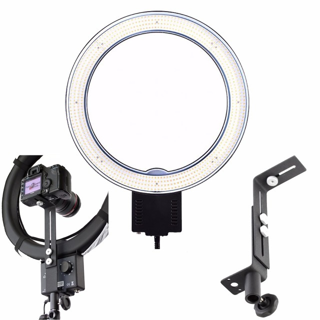 d5a266f7f NanGuang CN-R640 Photography Video Studio LED Ring Light + Bracket for  Camera