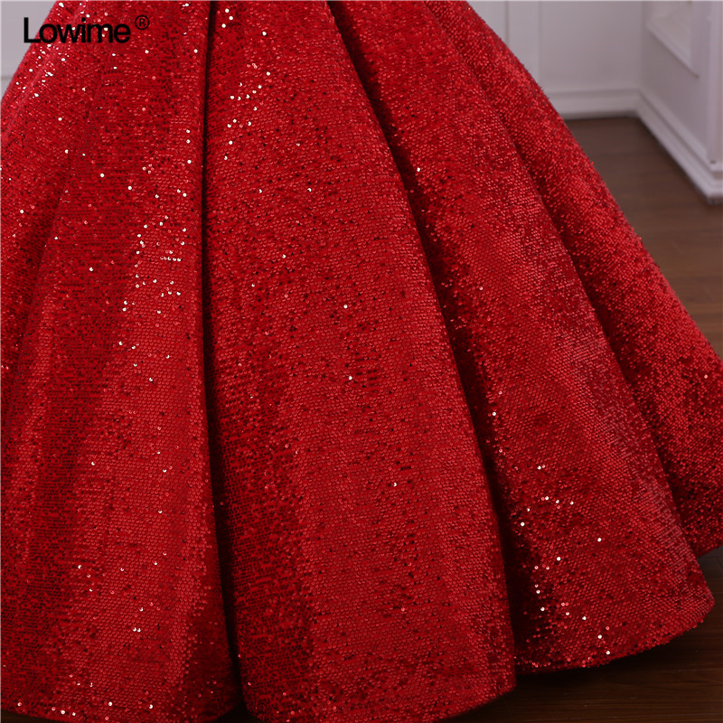 Real Photo Ball Gown Evening Dresses Dubai Turkish Arabic Aibye Prom Gowns Galajurk Sequins Formal Party Abendkleider Dress (1)