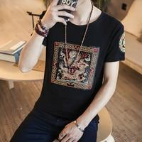 Brand Clothing Men T Shirt Fashion 2017 Slim Fit Summer T Shirt Men Casual China Dragon