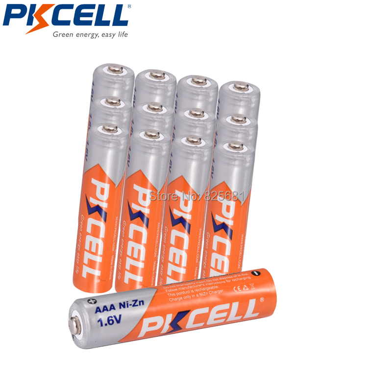 12Pcs Aaa 900mWh NIZN AAA Rechargeable Battery And 3pcs Battery Boxes
