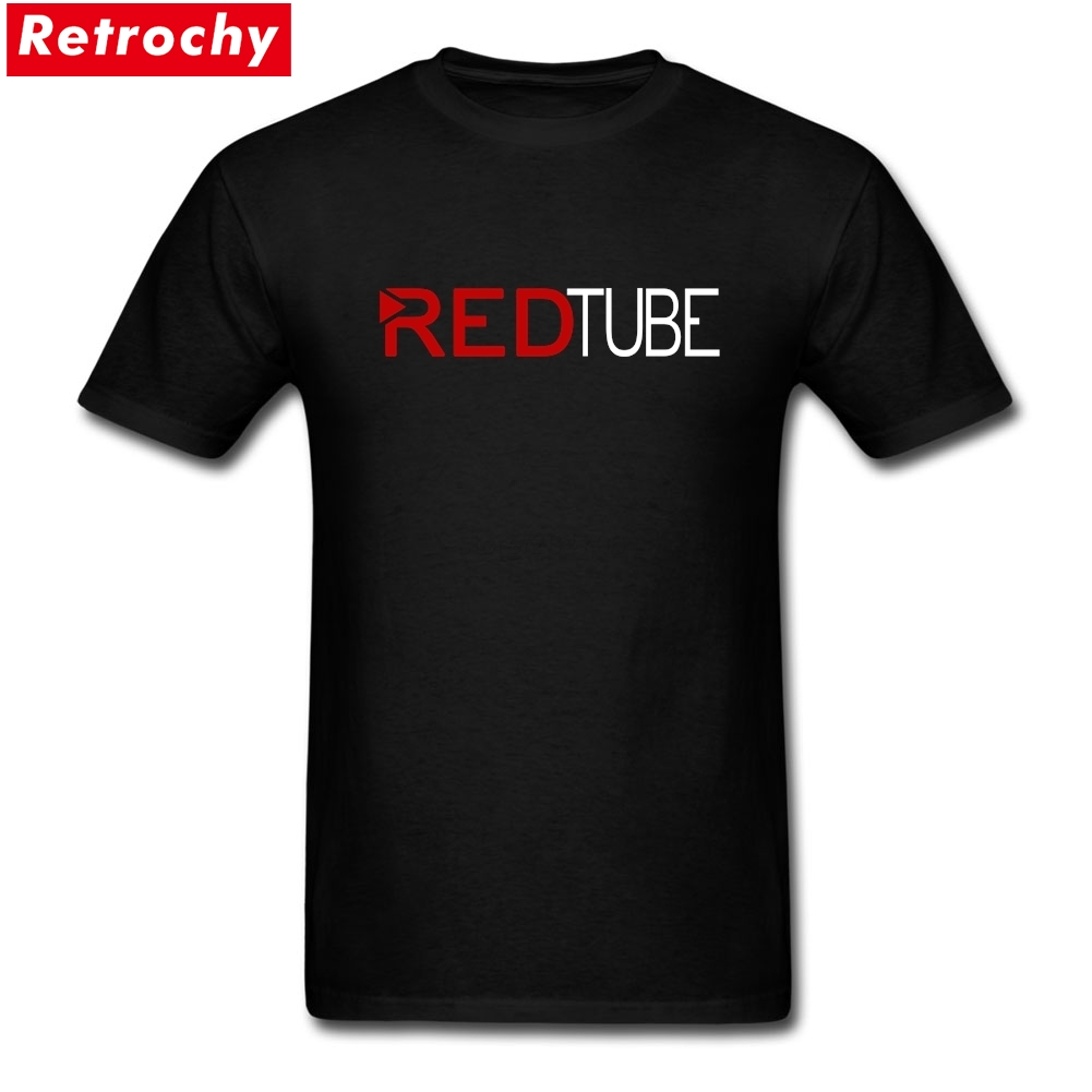 2017 Casual Fashion Redtube Logo Mens T Shirt Cotton Male Tops Tee Shirts Hot Fashion -7104