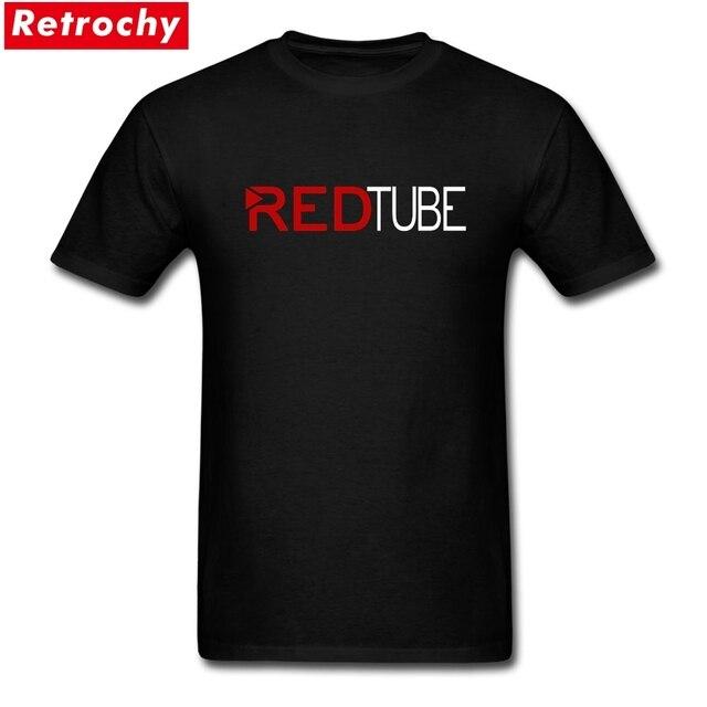2019 Casual Fashion Redtube Logo Mens T Shirt Cotton Male Tops Tee Shirts Hot Fashion