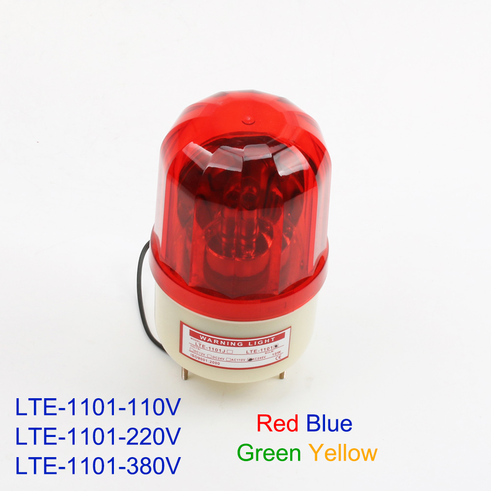 AC220V 110V 380V Engineering Signals Warning Alarm Rotating Traffic Light Police Siren Without Sound S-100 LTE-1101