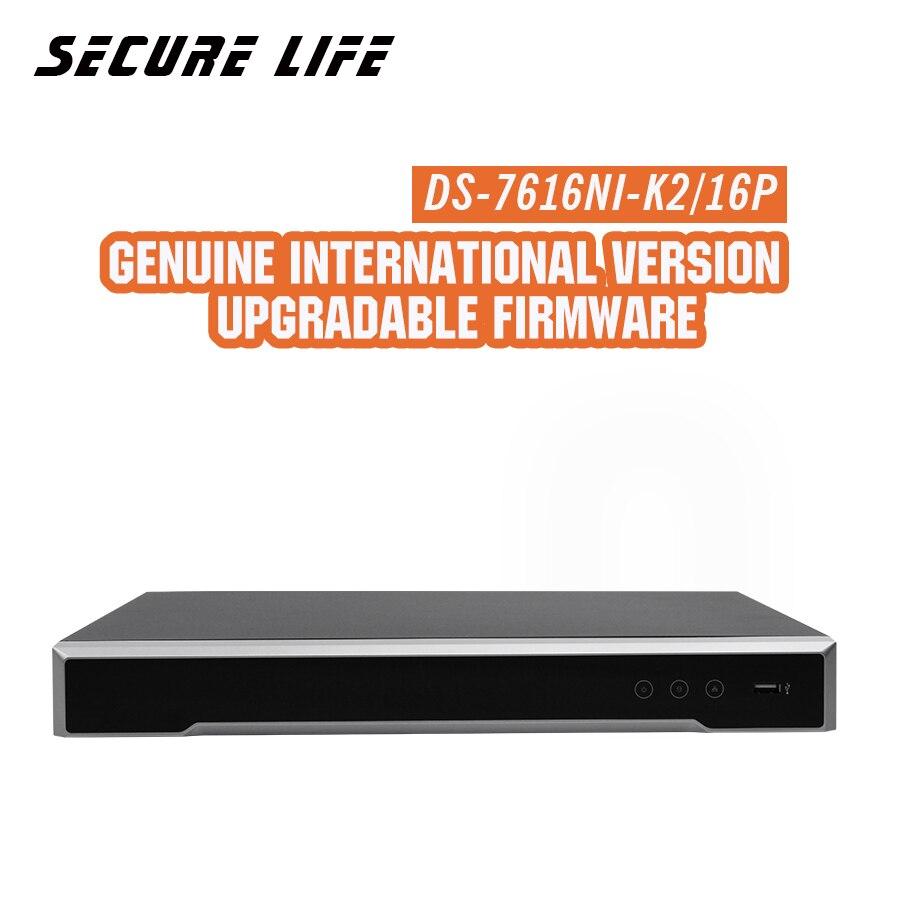 In magazzino DS-7616NI-K2/16 p Inglese versione 4 k NVR 16ch con 2 SATA e 16 porte POE, fino a 8MP HDMI VGA plug & play NVR POE H.265