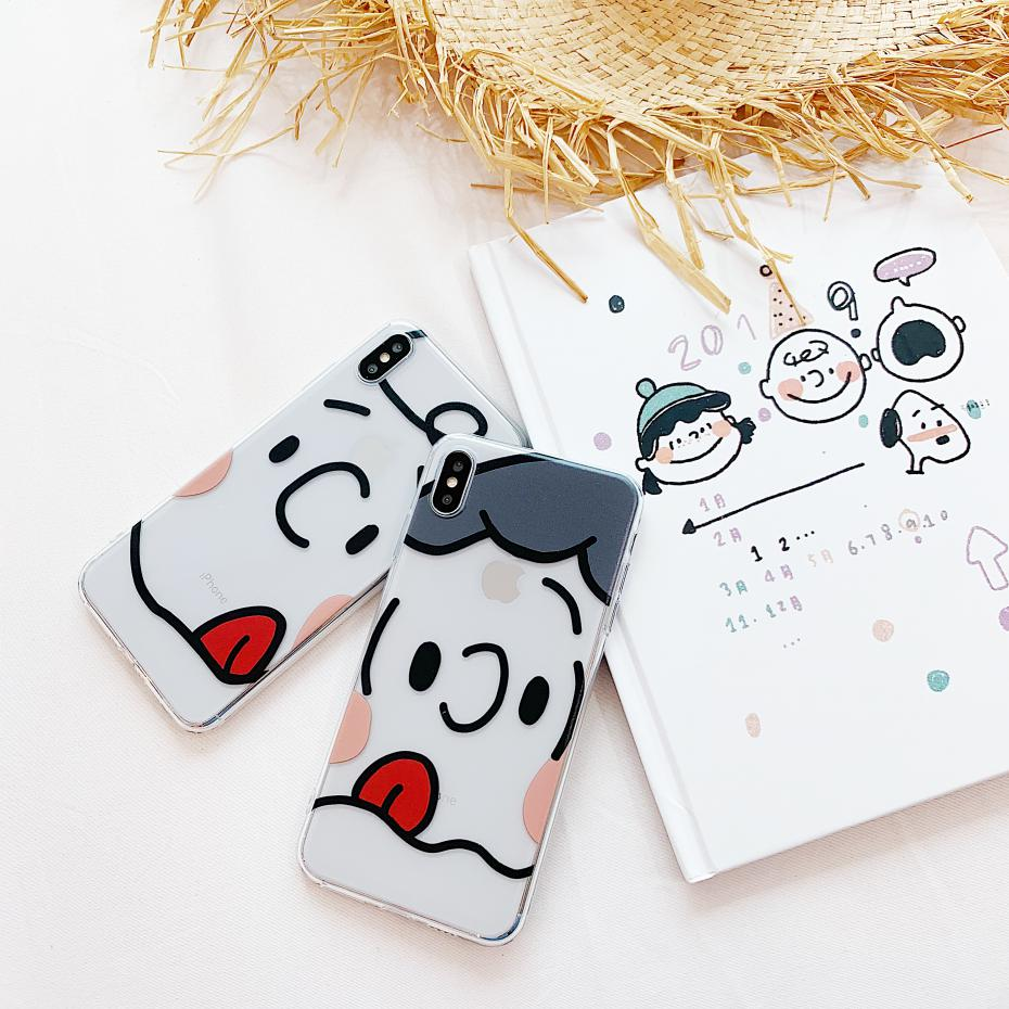 Cute Charlie Lucy Clear soft case for iphone X XS MAX XR 8 7 6 6S plus silicone Transparent Cartoon coque fundas capa 8plus in Fitted Cases from Cellphones Telecommunications