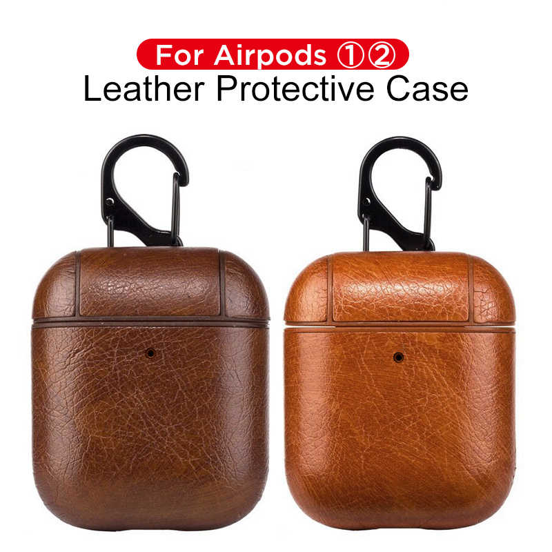 High Quality Headphone Case For Apple Airpods 2 1 Luxury Leather Cover Case Earphone Protective Accessories For AirPods 2 Funda