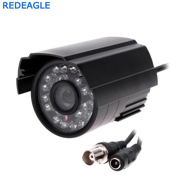 900TVL CCTV Couleur Vidéo Surveillance Caméra de Sécurité avec 24 pcs LED IR CUT Filtre Intérieur Usage Extérieur En Métal Corps