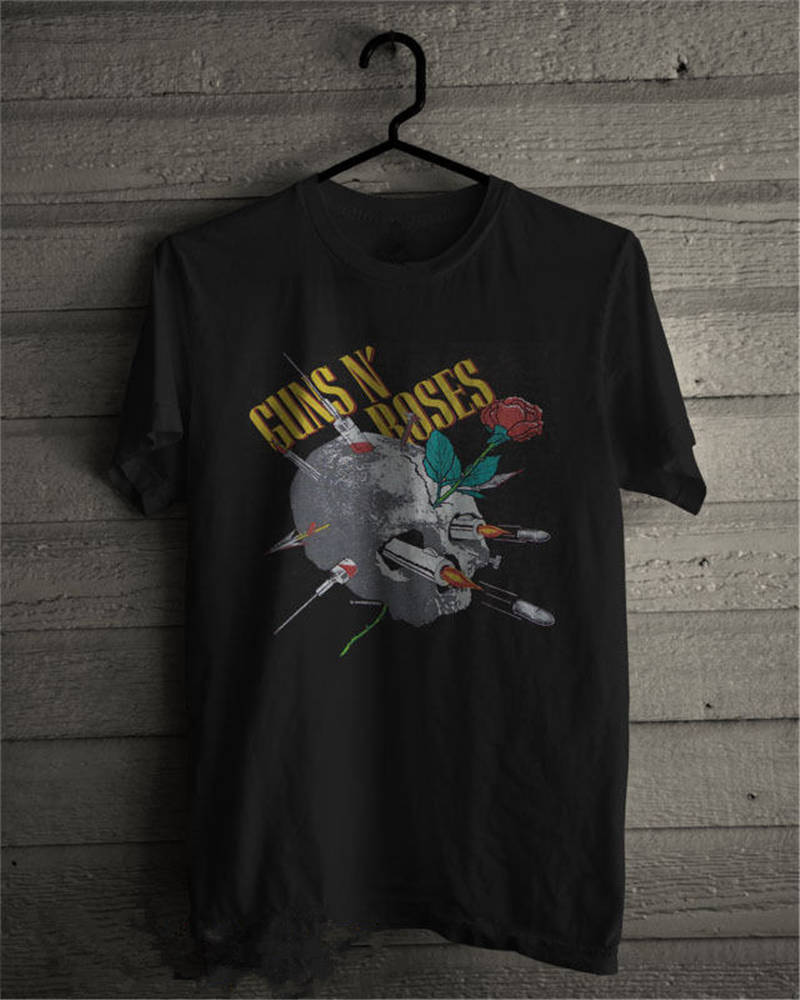 2018 Hot Sale Super Fashion Crew Neck Guns N Roses Novelty Short Sleeve Tees For Men