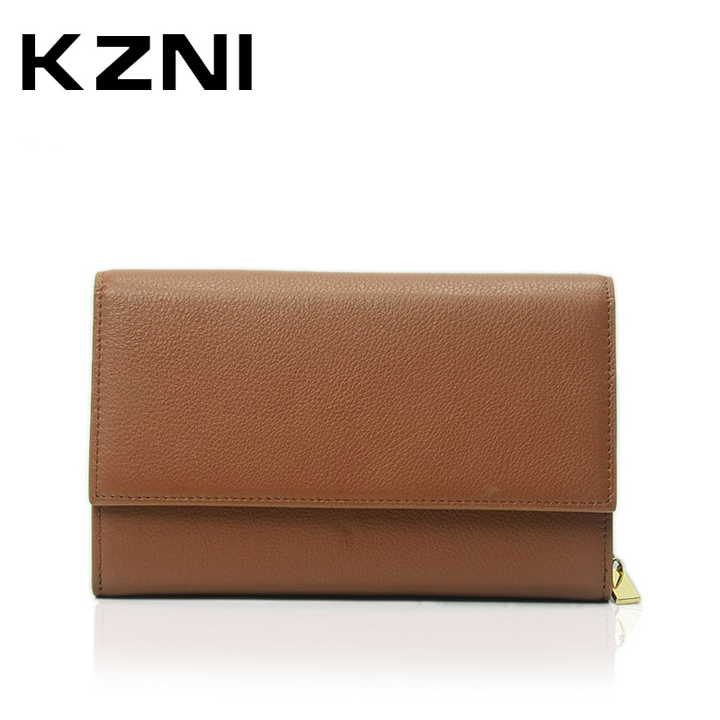 KZNI Genuine Leather Women Messenger Bags Female Handbags Crossbody Shoulder Bags Sac a Main Femme De Marque 2138 hongu genuine leather shoulder messenger bags for women pillow shape sac a main femme de marque luxe cuir 2017 black pink online