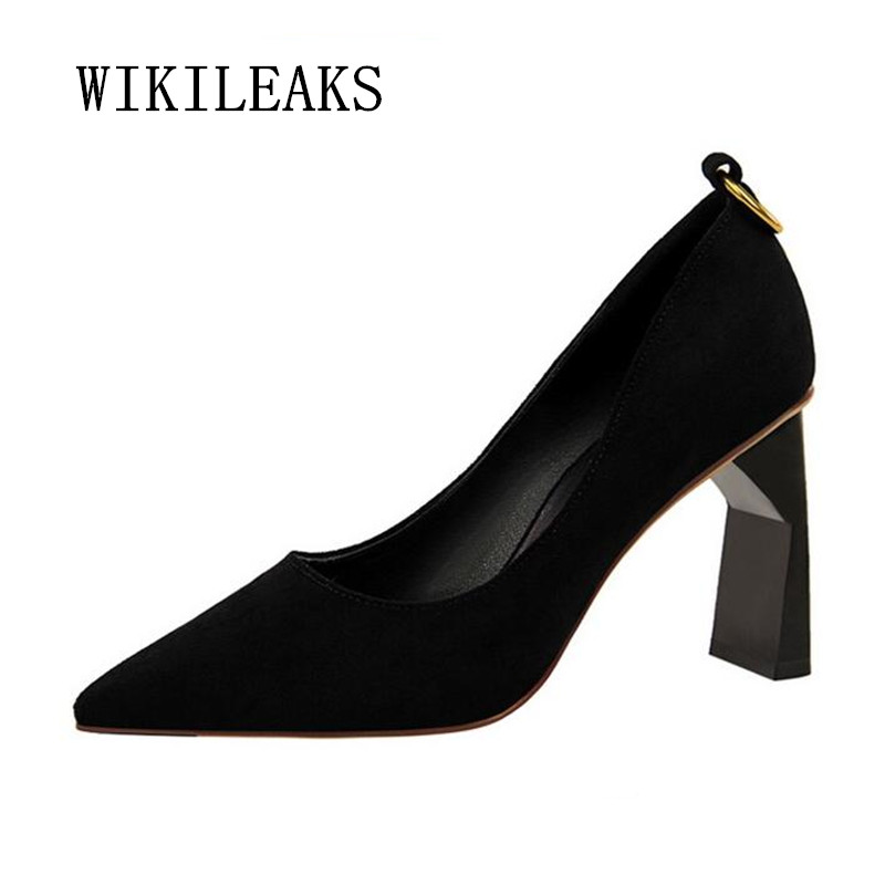women shoes sexy pumps formal wedding ladies shoes escarpins femme 2019 metal decoration luxury brand high heels zapatos mujer