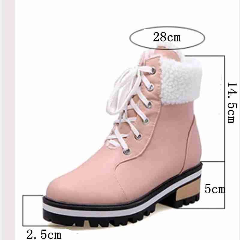 beige pink Caliente Piel Feminina 43 Zapatos Mujer Invierno Tacones Cat Cuadrados Nieve Black Marca Reave blue Bota Muje 34 Tamaño Botas De 1vqxRP
