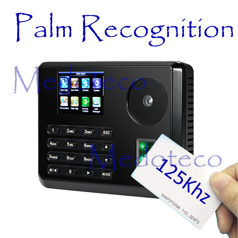 New Palm Time Attendance Employee Biometric Electronic Attendance BioID Fingerprint Reader Free Software Rfid Card Time Recorder