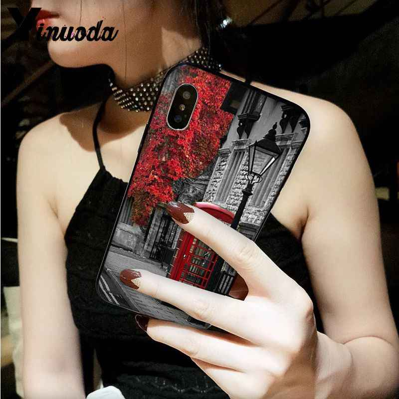 Yinuoda style london bus england telephone vintage british Customer Phone Case for iPhone 5 5Sx 6 7 7plus 8 8Plus X XS MAX XR