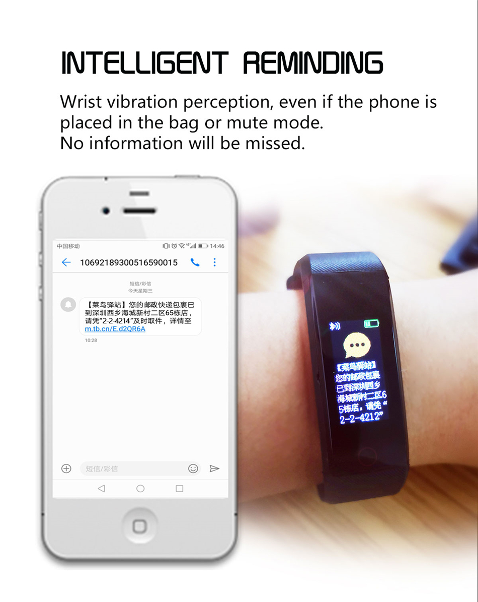 Fitness Tracker bracelet pressure measurement pedometer Smart band Heart rate monitor IP68 Waterproof smartwatch For Android ios xiaomi band 09