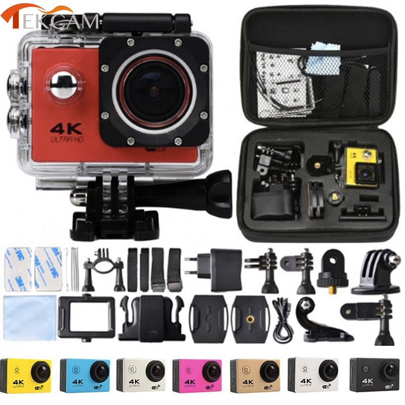"Tekcam WI-FI экшн-камеры F60 1080 P HD V3 4 К/30fps 2.0 ""170d Pro шлем Cam 30 м Водонепроницаемый Спорт DV камера автомобиля"