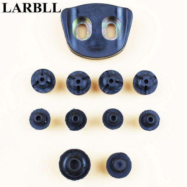 Amortiguadores de puerta de coche de 11 piezas de goma de choque para Mitsubishi Pajero Montero V31 V32 V33 V43 v45 V73 V77