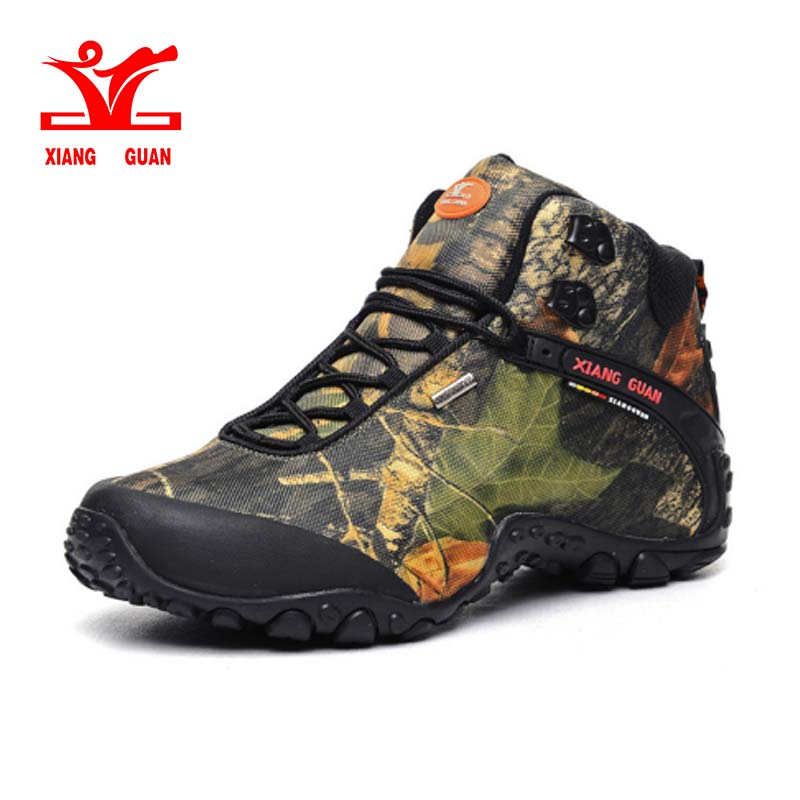 XIANG GUAN Man Outdoor Shoes Camouflage Water Resistant Breathable Hiking Shoes For Women Climbing Trekking Sneakers