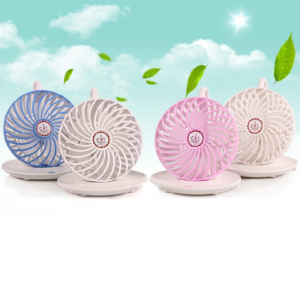 Hot USB Powered Cooling Fan Unique Mini Portable USB Charging Coffee Cup Fan Blade Desktop Cooling Fan for Home use цена и фото