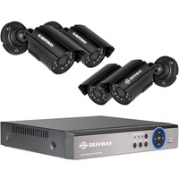 DEFEWAY 1080N HDMI DVR 1200TVL 720P HD Outdoor Home Security Camera System 4CH Video Surveillance DVR