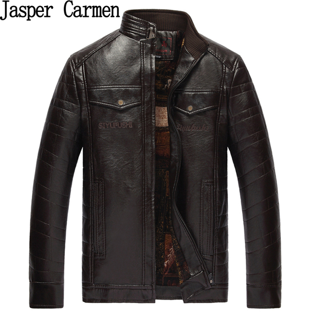 Leather Jackets Men Autumn Winter Leather Clothing Men Leather Jackets Male Business casual Coats Brand New clothing 52hfx