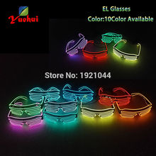 New transparent Blue EL Wire Neon LED Light Up Shutter Fashi