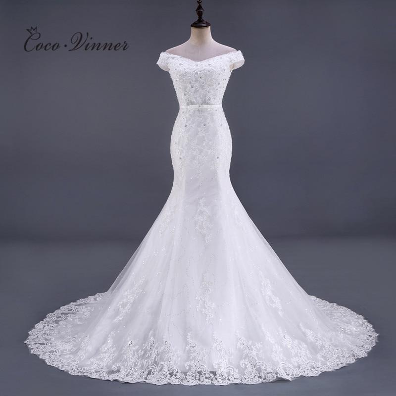 Beading Lace Mermaid Wedding Dresses Vestido De Noiva Sleeveless Crystal 2020 Court Train Plus Size White Wedding Gowns WX0081