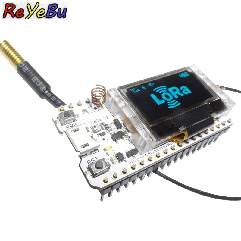 2pcs/lot ESP32 SX1278 0.96 Inch Blue OLED Display Bluetooth WIFI Lora Kit 32 Module IOT Development Board for Arduino w/Antenna