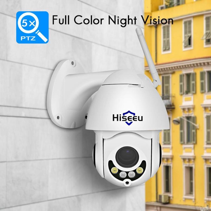 Hiseeu Videcam IP caméra caméscope Surveillance vidéo FHD 1080P 2MP extérieur 5X Zoom étanche IR Vision nocturne PTZ dôme P2P