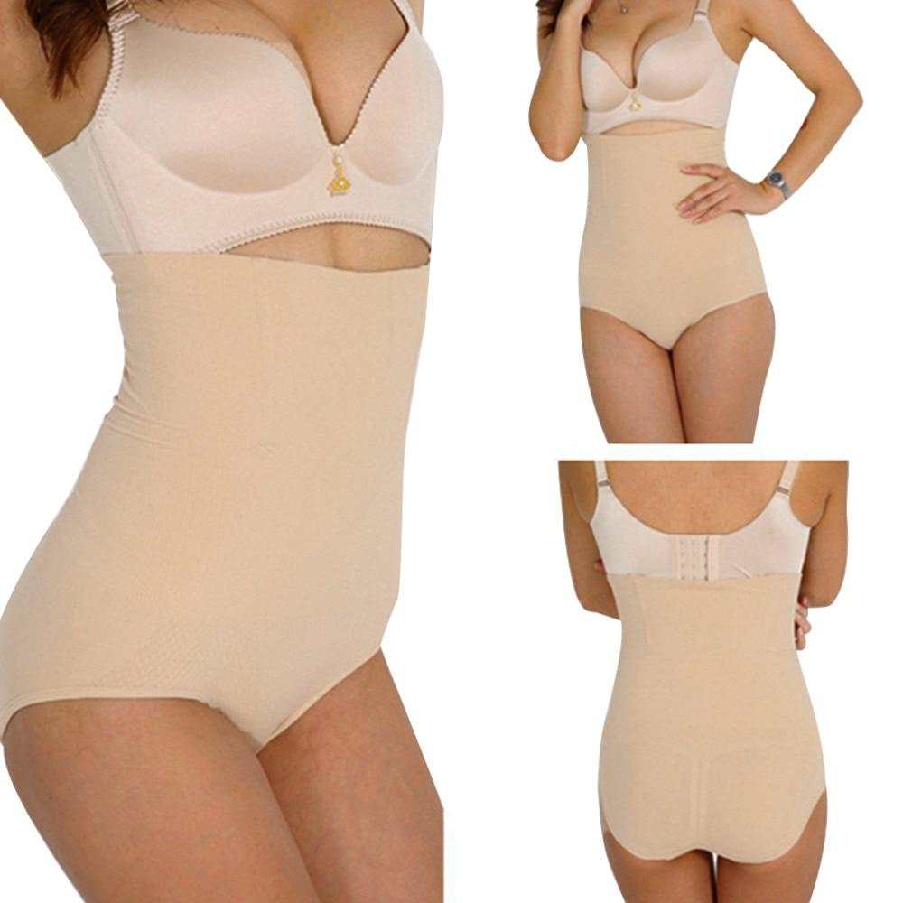 Seamless High Waist Slimming Tummy Control Panties Knickers Apricot Black Amazing Shapewear Magic Body Shaper Corset Underwear