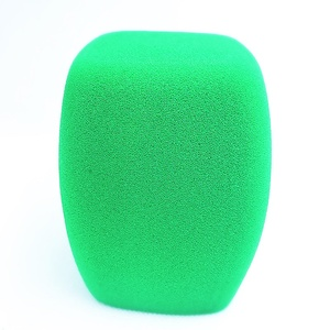 Image 5 - Linhuipad tampa de microfone para estação de tv, tampa de microfone de mão, protetor de vento verde para microfone, transmissão de vídeo