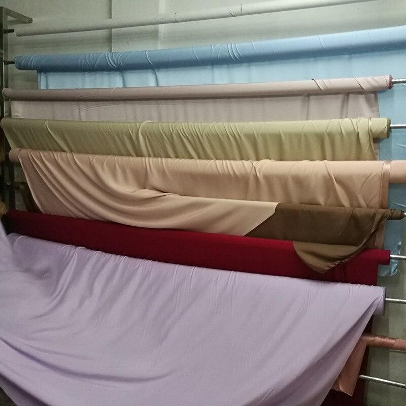 Tissu en soie 100% mûrier 300cm largeur 19mm soie couleur unie multicolore plaine teinte en soie robe tissu literie écharpe LS030019001