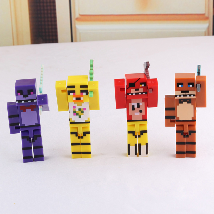 US $2 99  4pcs/set Minecraft Five Nights At Freddy's 4 FNAF Foxy Chica  Bonnie Freddy Action Figures Kid Toy Christmas Gifts-in Action & Toy  Figures