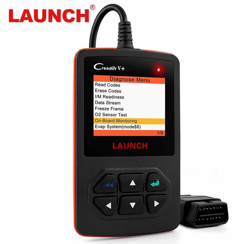 Lanzamiento de X431 Creader V + OBD OBD2 automotriz escáner culpa lector de código con Multi-idioma ODB2 coche herramienta de diagnóstico auto escáner