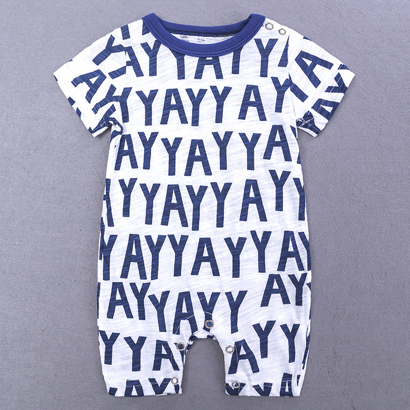 HTB1r6VzXPnuK1RkSmFPq6AuzFXaQ 2019 Cartoon Baby Onesies Summer Cotton Romper Boy Girls 0-24 Months Kids Clothes Knitted Cartoon Short-sleeved Jumpsuit Outfits
