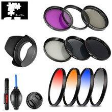 UV CPL FLD star ND Graduale di Colore Filter Lens Hood Cap per Panasonic HC V750 V760 V770 VX870 WX970 W850 w850M VX980 VX981