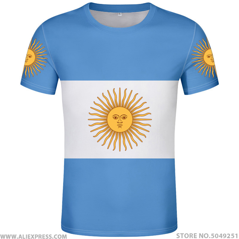 ARGENTINA t <font><b>shirt</b></font> free custom name number ARG country gyms t-<font><b>shirt</b></font> <font><b>ar</b></font> flag spanish argentine nation print text diy photo clothes image