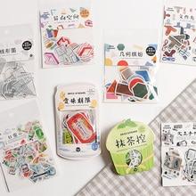 """Японские закуски бумажные этикетки наклейки ремесла Декоративные Стикеры для скрапбукинга """"сделай сам"""" милые канцелярские принадлежности Стикеры s"""