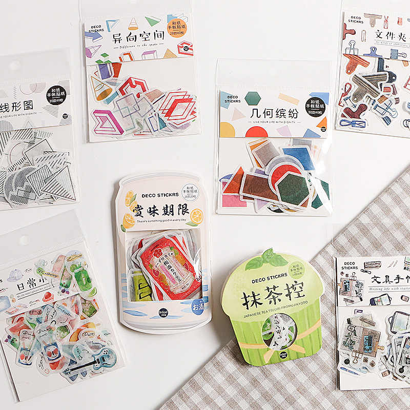 Japanese Snacks Paper Label Stickers Crafts Scrapbooking Decorative Sticker Diy Kawaii Stationery Stickers